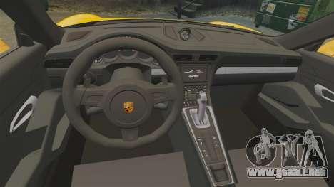 Porsche 911 Turbo 2014 [EPM] Turbo Side Stripes para GTA 4 vista interior