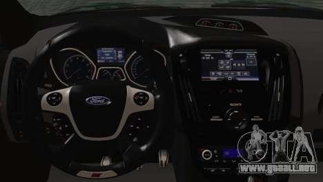 Ford Focus ST 2013 para GTA San Andreas vista hacia atrás