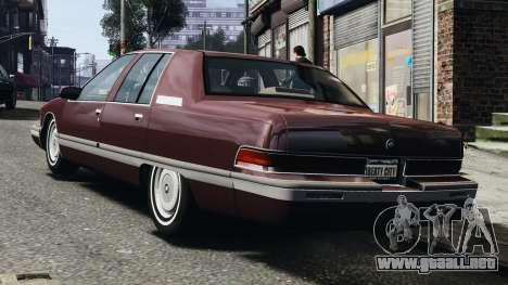 Buick Roadmaster 1996 para GTA 4 visión correcta
