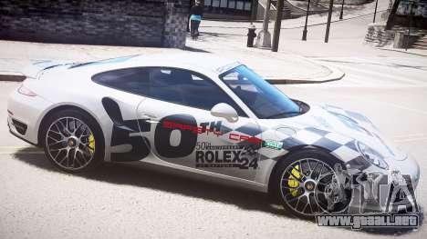 Porsche 911 Turbo 2014 para GTA 4 left