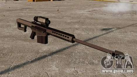 Rifle de francotirador Barrett M107 para GTA 4