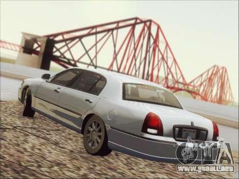 Lincoln Town Car 2010 para vista inferior GTA San Andreas