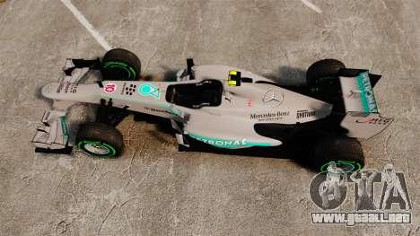 Mercedes AMG F1 W04 v4 para GTA 4 visión correcta