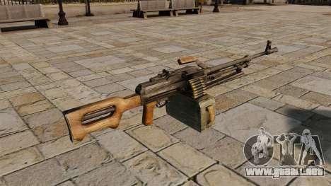 Ametralladora Kalashnikov para GTA 4 segundos de pantalla