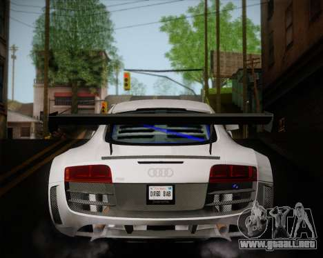 Audi R8 LMS Ultra v1.0.1 DR para la visión correcta GTA San Andreas