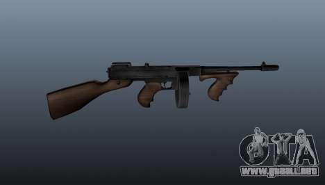 Subfusil Thompson M1928 para GTA 4 tercera pantalla