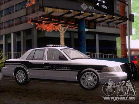 Ford Crown Victoria San Andreas State Trooper para GTA San Andreas vista hacia atrás