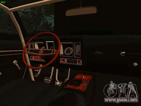 Chevrolet Camaro z28 Falken edition para GTA San Andreas vista hacia atrás