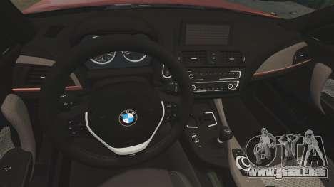 BMW M135i 2013 para GTA 4 vista hacia atrás
