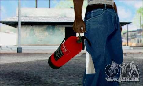 Extintor nuevo 2 para GTA San Andreas segunda pantalla