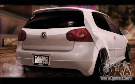 Volkswagen Golf MK5 Lowstance para GTA San Andreas left