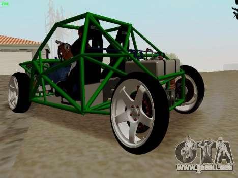 Nocturnal Motorsports Coyote para GTA San Andreas vista posterior izquierda
