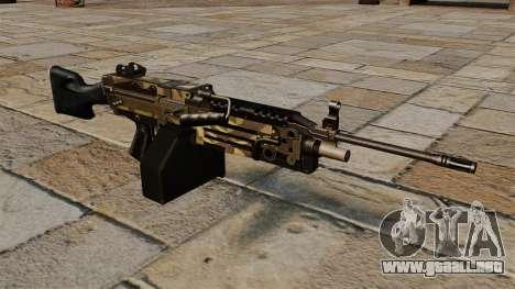 La ametralladora de la ligera M249 Camo para GTA 4