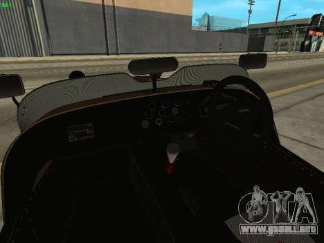 Caterham 7 Superlight R500 para visión interna GTA San Andreas