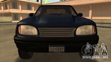 Bobcat HD from GTA 3 para GTA San Andreas left