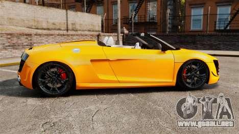 Audi R8 GT Spyder para GTA 4 left