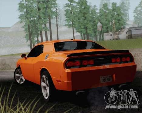 Dodge Challenger SRT-8 2010 para GTA San Andreas vista posterior izquierda