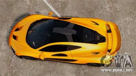 McLaren P1 2014 [EPM] para GTA 4 visión correcta