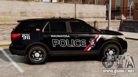 Ford Explorer 2013 Utility - Slicktop [ELS] para GTA 4 left