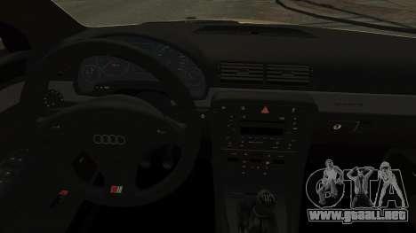 Audi S4 2004 para GTA 4 vista interior