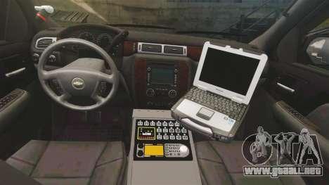 Chevrolet Tahoe Police [ELS] para GTA 4 vista hacia atrás