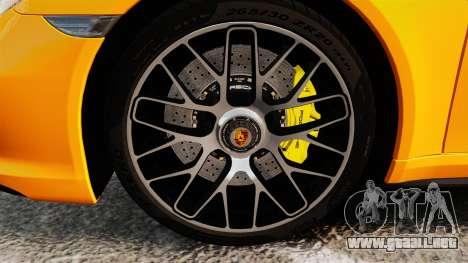 Porsche 911 Turbo 2014 [EPM] para GTA 4 vista hacia atrás