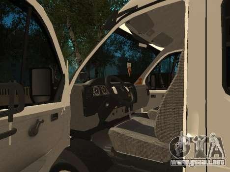 Empresas 33023 gacela para GTA San Andreas vista hacia atrás