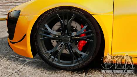 Audi R8 GT Spyder para GTA 4 vista hacia atrás