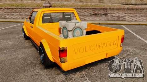 Volkswagen Caddy para GTA 4 Vista posterior izquierda