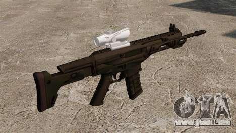 Remington automático ACR Aeg para GTA 4 segundos de pantalla