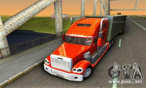 Freightliner Coronado para visión interna GTA San Andreas