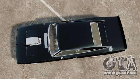 Dodge Charger 1969 para GTA 4 visión correcta