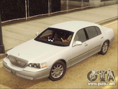 Lincoln Town Car 2010 para visión interna GTA San Andreas