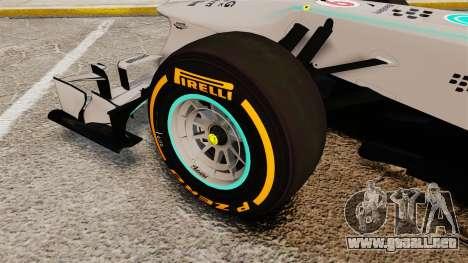 Mercedes AMG F1 W04 v3 para GTA 4 vista hacia atrás