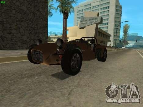 Caterham 7 Superlight R500 para la visión correcta GTA San Andreas