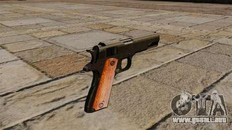 Pistola Colt M1911 Black Edition para GTA 4 segundos de pantalla
