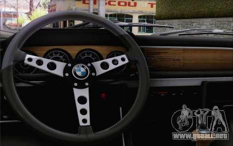 BMW 30 CSL 1971 para GTA San Andreas vista hacia atrás