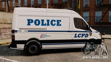 Mercedes-Benz Sprinter 2500 Prisoner Transport para GTA 4 left