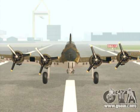 B-17G para GTA San Andreas left