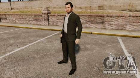Michael de Santa para GTA 4 adelante de pantalla