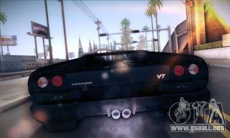 Lamborghini Diablo VT6.0 para GTA San Andreas vista posterior izquierda