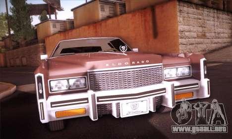 Cadillac Eldorado 1978 Coupe para GTA San Andreas vista hacia atrás