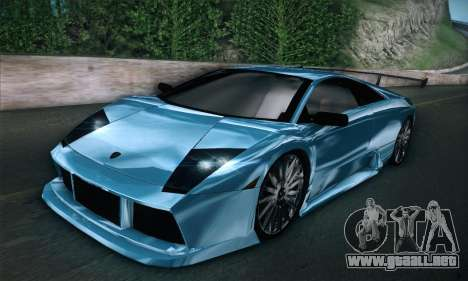 Lamborghini Murcielago GT Coloured para GTA San Andreas vista posterior izquierda