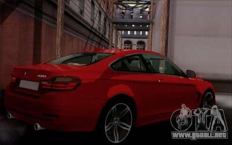 BMW 435i para GTA San Andreas left