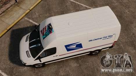 Mercedes-Benz Sprinter US Mail para GTA 4 visión correcta