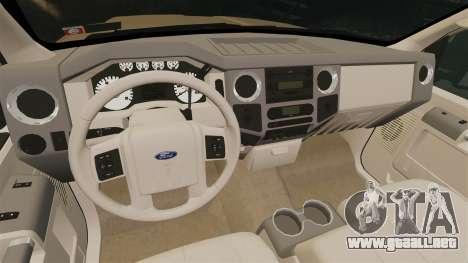Ford F-350 Pitbull para GTA 4 vista interior