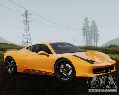 Ferrari 458 Italia 2010 para el motor de GTA San Andreas