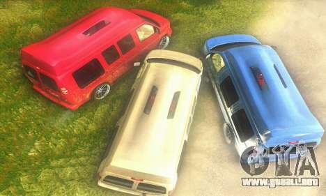 GMC Savana para la visión correcta GTA San Andreas
