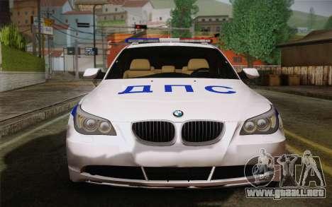BMW 530xd DPS para GTA San Andreas left