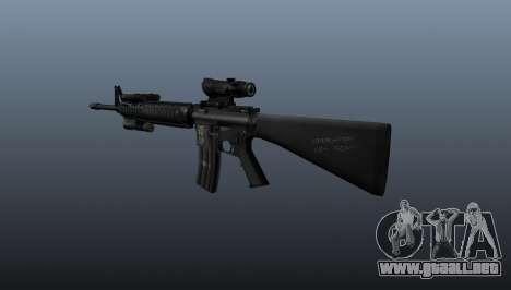 Rifle de asalto M16A4 AEG para GTA 4 segundos de pantalla